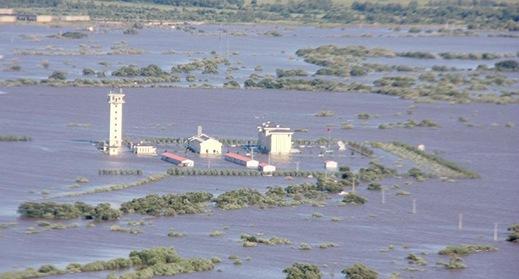 黑龙江水灾致黑瞎子岛被淹没